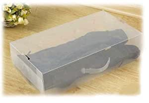 4 Pack Long Boot Transparent Plastic Shoe Storage Clear Boxes Container for Shoes Closet Organizer
