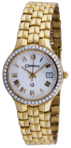 Orphelia - Mon-7018 - Montre Femme - Or 18 Carats - Diamants 0.38 Cts - Quartz Analogique - Cadran Blanc - Bracelet Or Jaune 18 Carats