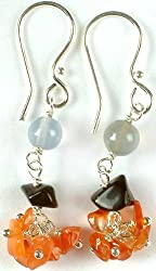 Exotic India Gemstone Earrings - Sterling Silver