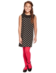 Peter Pan Collar Heart Print Shift Dress