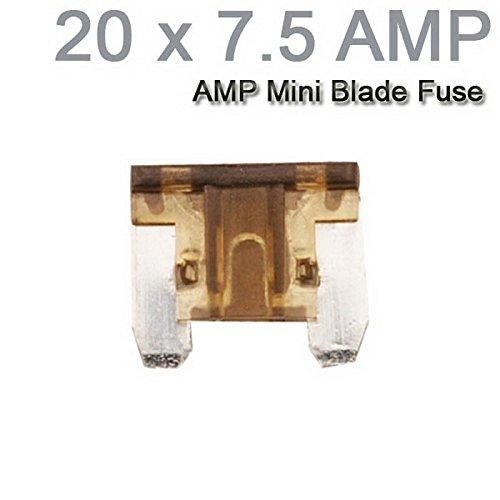 Auto-LKW-Motorrad-Auto Mini Sicherungen Flachsicherung Sortiment 20PCS X 7.5AMP