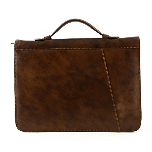 Portadocumenti A4 In Vera Pelle, Tasche Porta Biglietti Da Visita Colore Moro - Pelletteria Toscana Made In Italy - Business