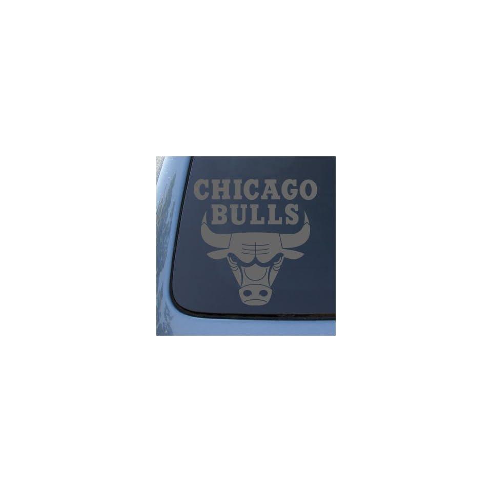 CHICAGO BULLS   Vinyl Decal Sticker #A1339  Vinyl Color Silver