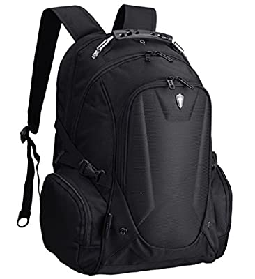 Victoriatourist V6002 Laptop Backpack with Check-Fast Airport Security Friendly Sleeve, Fits Most 16-inch Laptops (Black)