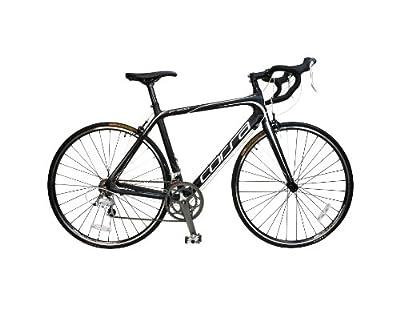 Alton Corsa ZR-900 Carbon Frame Road Bike, 18-Inch/Medium, Black/White