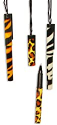 Fun Express Animal Print Pens on a Rope (12 Pack)