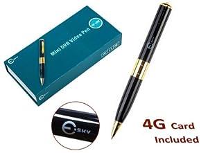 Esky® HD Spy Hidden Camera DVR Pen and 4GB Recorder - 3840x2880 30 FPS Video
