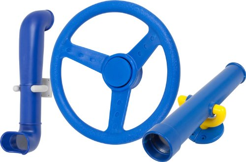 Periscope Telescope And Steering Wheel Kit (Blue) With Sss Logo Sticker