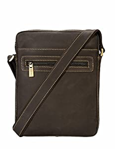 Visconti Hunter 16050 Distressed Oil Brown Leather Messenger Cross Body Bag