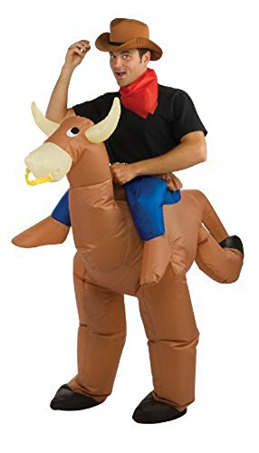 SGY Inflatable Bull Rider Fancy Dress Costume