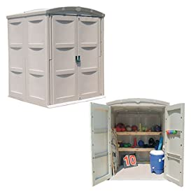 Large All-Purpose Storage Shed (66in W x 65in D x 83in H)