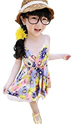 Baby Girls Toddler Kids One-piece Dresses Summer Tulle Skirt Vest Dress Clothes from Angel's Wings