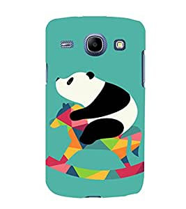PrintVisa Cute Panda Animal Playing 3D Hard Polycarbonate Designer Back Case Cover for Samsung Galaxy Core i8262