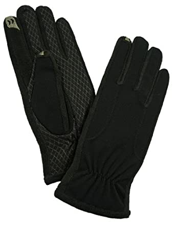 Isotoner Women's SmarTouch Stretch Fleece Gloves with Ultra Plush Lining - Black - Size XL