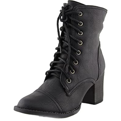 s lace up combat high heel boots dbdk