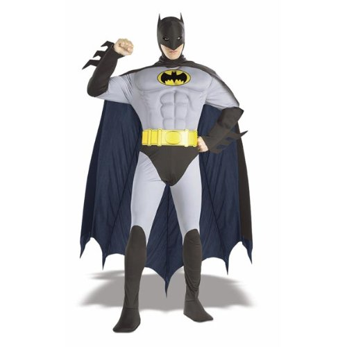 The Batman Muscle Chest Adult Costume-Large