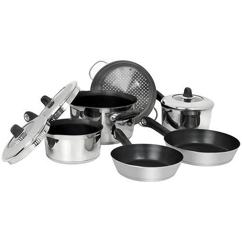Buy Revere Convenience 8-Piece Stainless-Steel Cookware Set, Plus Bonus Steamer Insert
