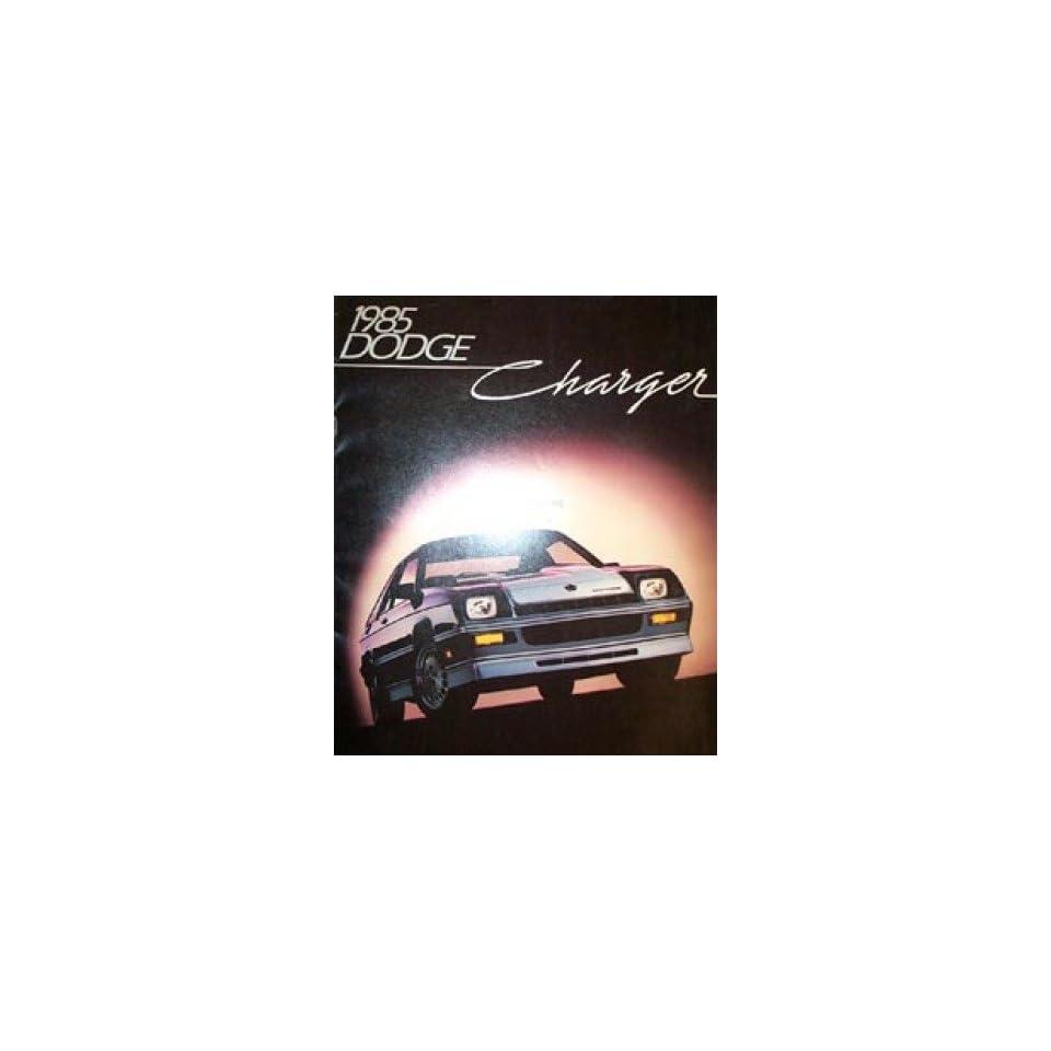 1985 Dodge Charger Sales Brochure Literature Book Advertisement Options Specs