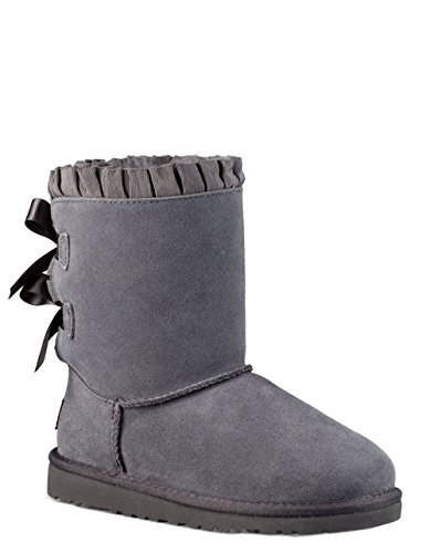 Ugg Kid's Bailey Bow Ruffles Shearling Boot (3 Little Kid M, Nightfall) (Blue Bow Uggs compare prices)