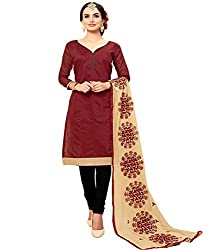 Krishna Present All New Design Of Brown Color Cotton Dress Material With Dupatta..