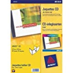 Avery CD/DVD Labels Inkjet 2 per Shee...