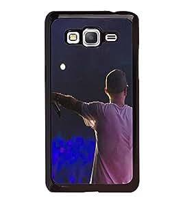 Fuson Premium 2D Back Case Cover Rock Star With Blue Background Degined For Samsung Galaxy J5::Samsung Galaxy J5 J500F