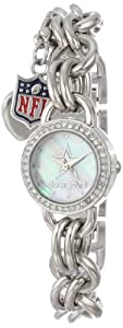 Game Time Ladies NFL-CHM-DAL Charm NFL Series Dallas Cowboys 3-Hand Analog Watch by Game Time