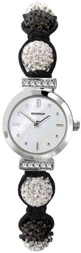 Crystalla by Sekonda Women's Quartz Watch with White Dial Display and Multicolour Nylon Strap 4712.27