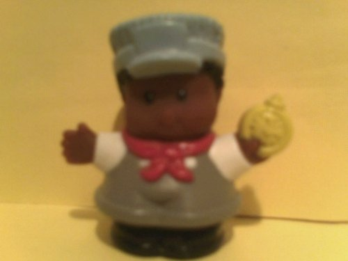 Little People Michael Holding Pocket Watch Train Conductor Dated 2001 Out of Production and Package Rare - 1