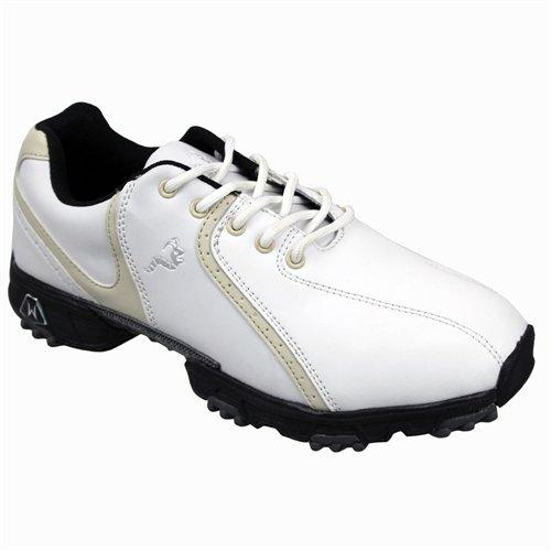Woodworm Golf Ladies Golf Shoes WHITE/BEIGE