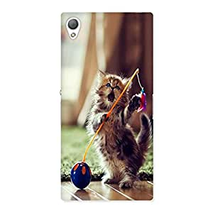AJAYENTERPRISES Playing Cat Back Case Cover for Sony Xperia Z3