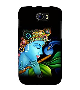 printtech Lord God Krishna Flute Back Case Cover for Micromax Canvas 2 A110::Micromax Canvas 2 Plus A110Q