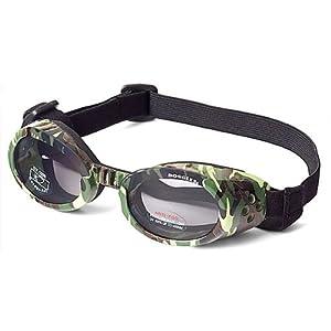 Doggles ILS Dog Goggle sunglasses in Green Camo / Smoke Lens Small