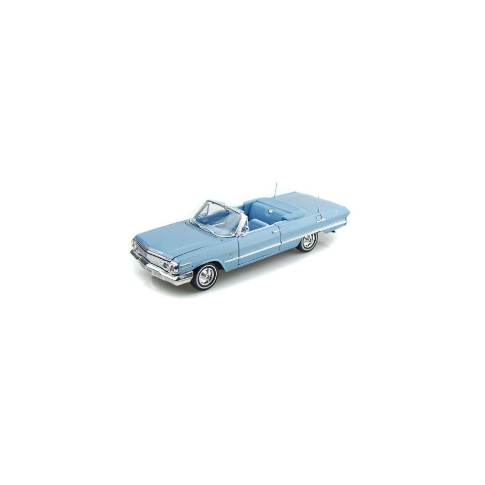 1963 Chevy Impala Convertible 1/26   Blue Toys & Games