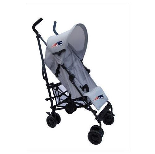 New England Patriots Gray Umbrella Stroller front-127366