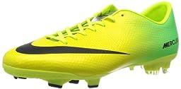 Nike Men\'s Mercurial Victory IV FG Vibrant Yellow/Black/Neo Lime Soccer Cleat 11 Men US