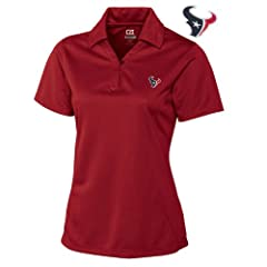 Houston Texans Ladies Ladies Drytec Genre Polo Cardinal Red by Cutter & Buck