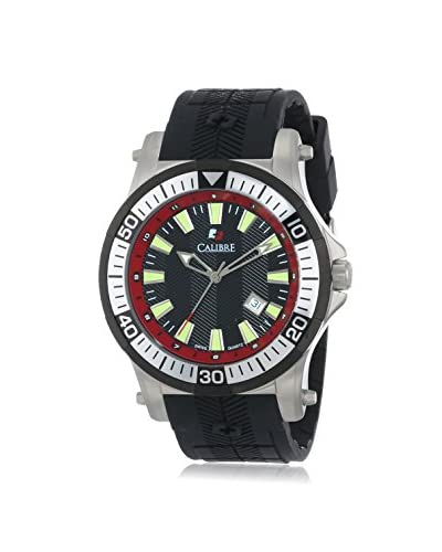 Calibre Men's Hawk Date Black Rubber Watch