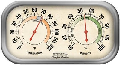 Springfield 90113-1 Color Track Humidity Meter and Thermometer