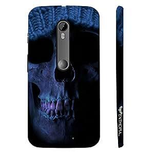 Motorola Moto G3 3rd Gen HOODED SKULL designer mobile hard shell case by Enthopia