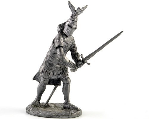 toy-soldier-sir-oliver-ingham-england-14th-century-metal-sculpture-collection-54mm-scale-1-32-miniat
