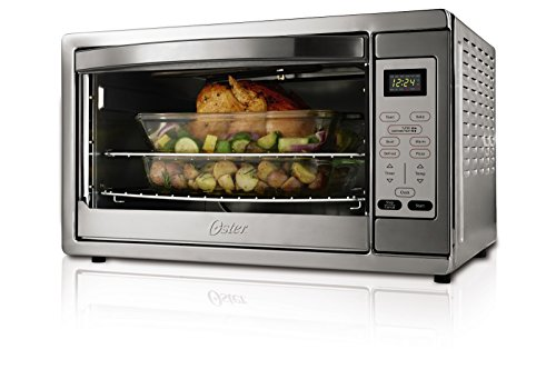Oster Extra Large Digital Countertop Oven, Stainless Steel, TSSTTVDGXL-SHP (Convection Toast Oven compare prices)