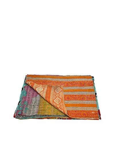 Kantha Bengali Printed Quilted Throw As You See