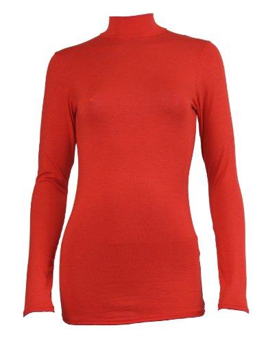 Love Lola -  Maglione  - Basic - Maniche lunghe  - Donna Rosso rosso