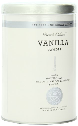 The Coffee Bean & Tea Leaf No Sugar Added French Deluxe Vanilla Powder, 16-Ounce Containers (Pack of 3)