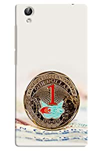 Omnam One Dollar Coin Printed Designer Back Case For Vivo Y51 L
