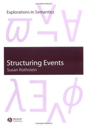 Structuring Events: A Study in the Semantics of Aspect (Explorations in Semantics)