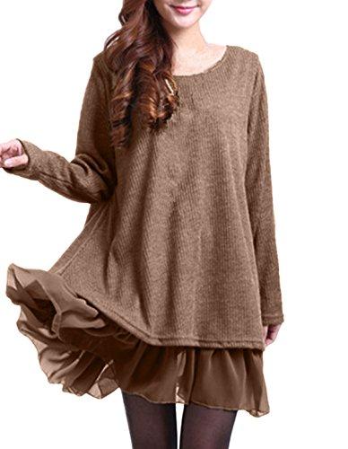 ZANZEA-Femme-Sweater-Tricot-Lce-Manche-longue-Haut-Pull-Mini-robe-Cardigan-Sweats