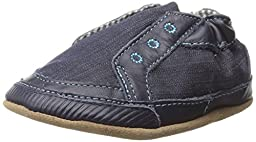 Robeez Stylish Steve Crib Shoe (Infant), Navy, 0-6 Months M US Infant