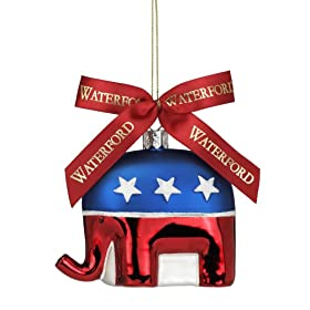 Waterford Holiday Heirlooms Republican Elephant Ornament